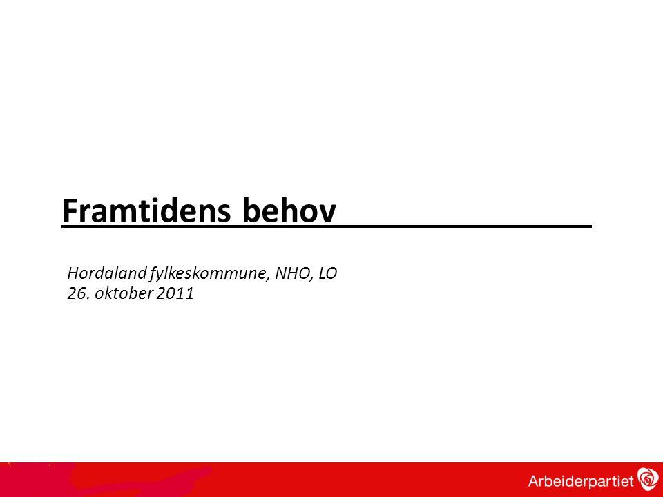 Framtidens behov Hordaland fylkeskommune, NHO, LO 26. oktober 2011