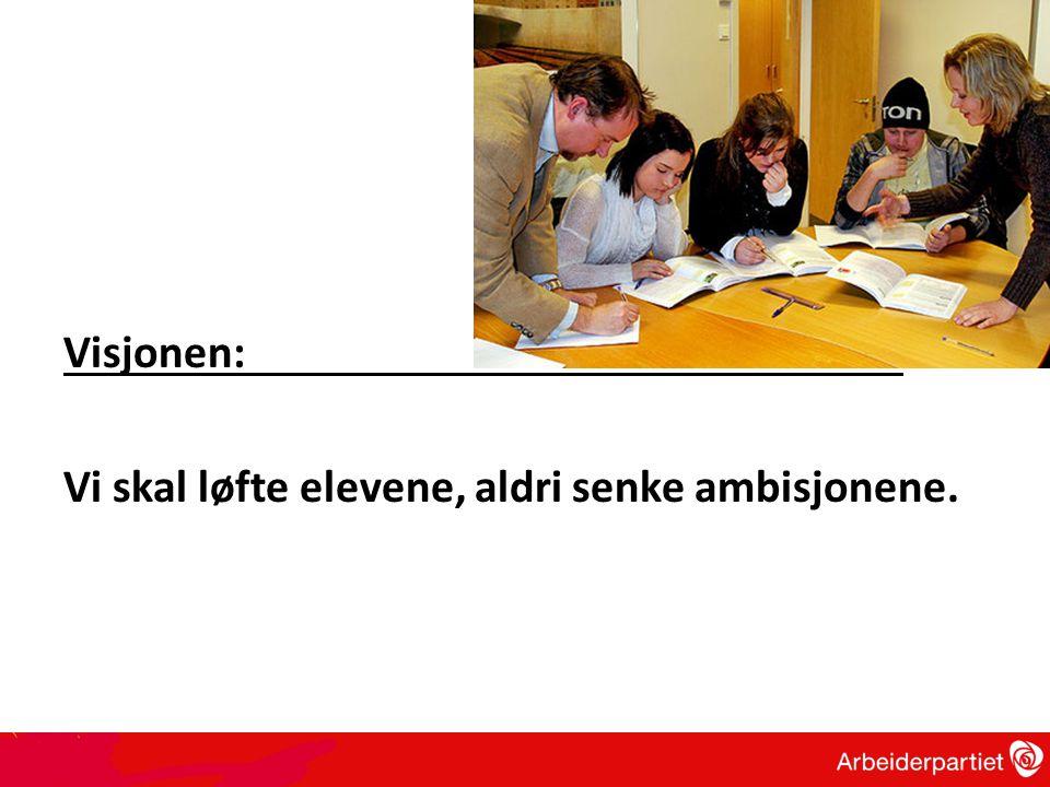 Visjonen: Vi skal løfte elevene, aldri senke ambisjonene.