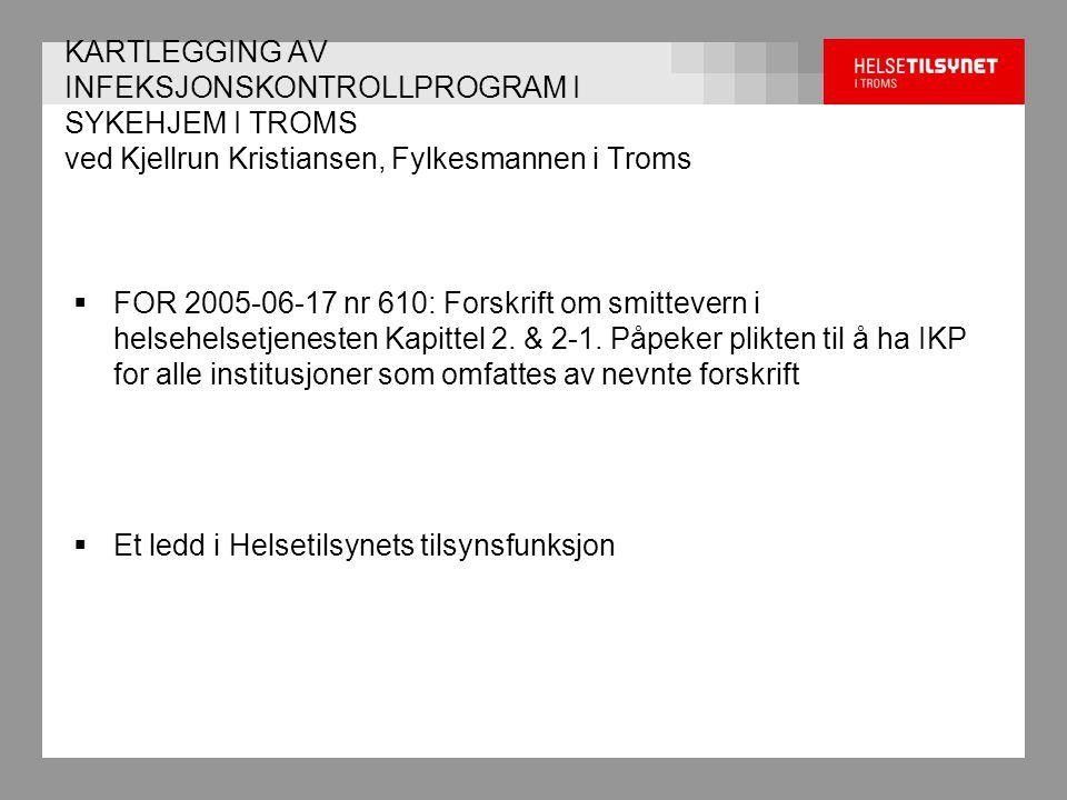  FOR 2005-06-17 nr 610: Forskrift om smittevern i helsehelsetjenesten Kapittel 2.