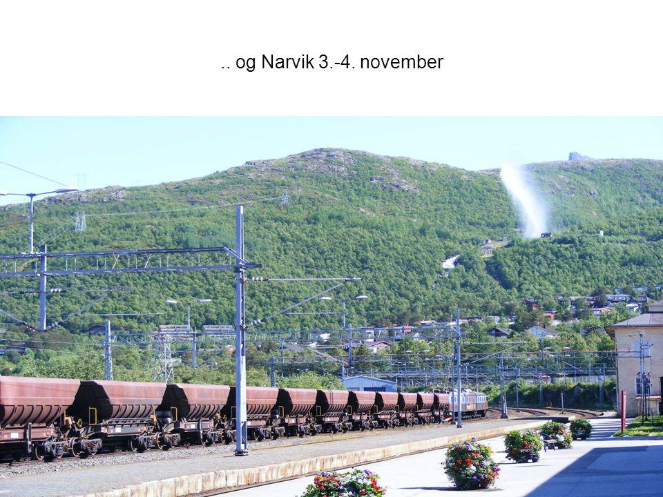 SUSH-møte 27. nov 200814.. og Narvik 3.-4. november