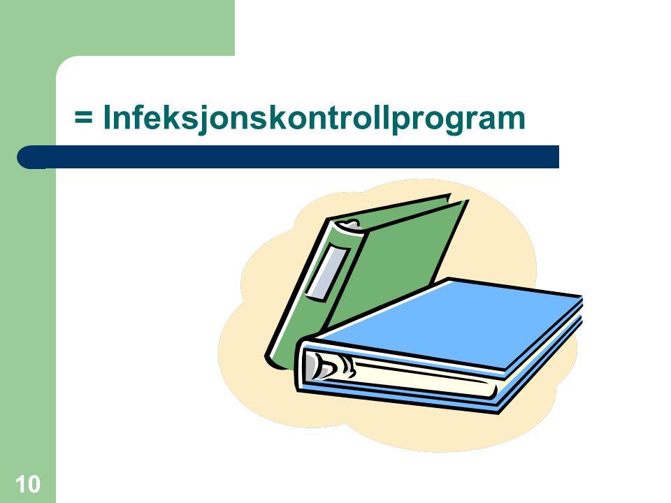 10 = Infeksjonskontrollprogram