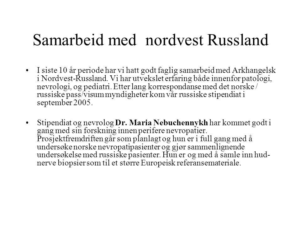 Samarbeid med nordvest Russland I siste 10 år periode har vi hatt godt faglig samarbeid med Arkhangelsk i Nordvest-Russland. Vi har utvekslet erfaring