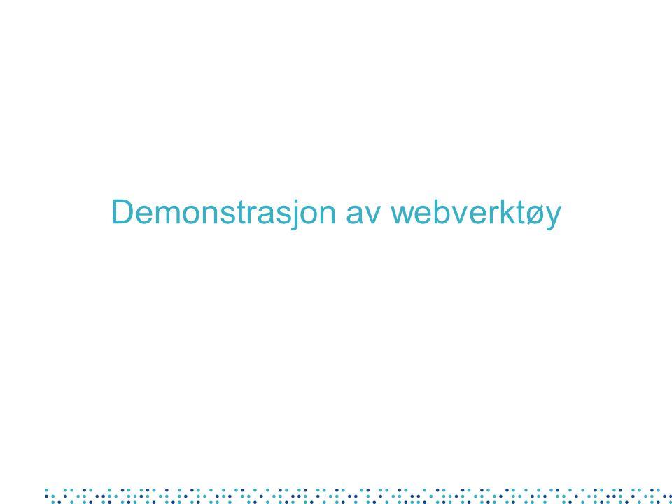 Demonstrasjon av webverktøy