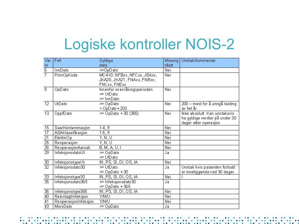 Logiske kontroller NOIS-2