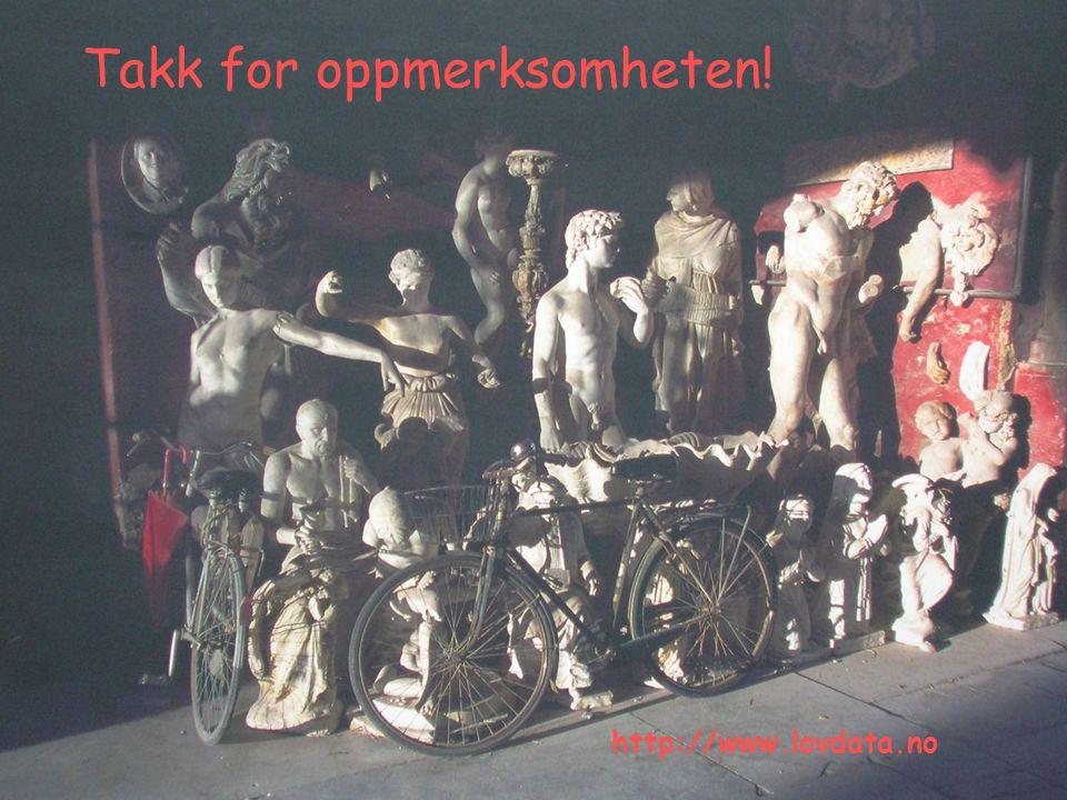 19 Takk for oppmerksomheten! http://www.lovdata.no