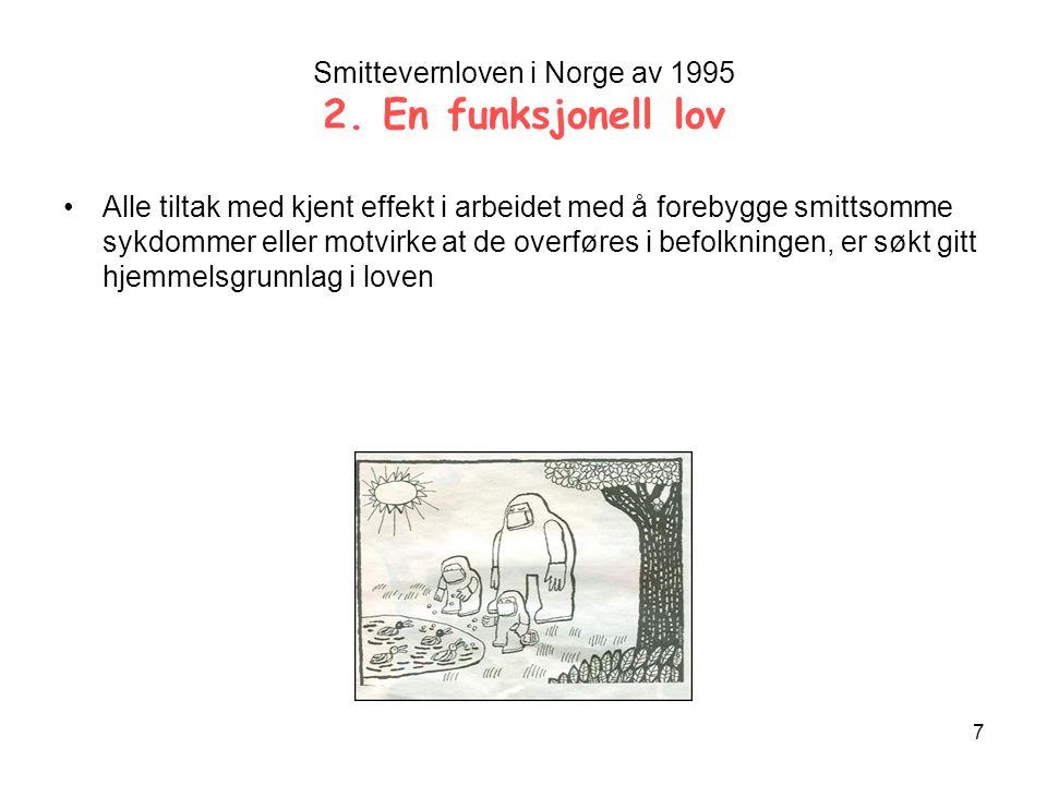 7 Smittevernloven i Norge av 1995 2.
