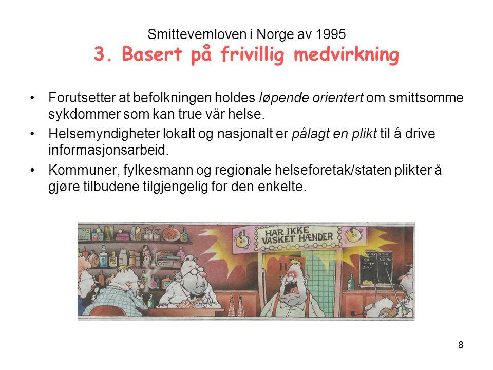 8 Smittevernloven i Norge av 1995 3.