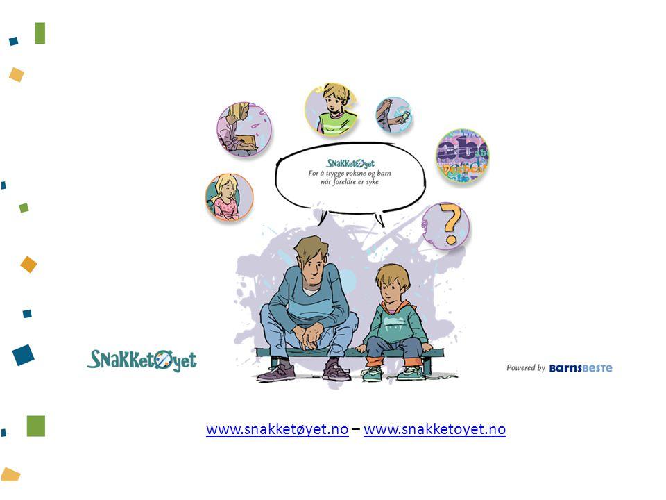 Undervisningspakker for spesialisthelsetjenesten Innhold Tre undervisningspakker (powerpoint med notatsider) om barn som pårørende – rettet mot helsepersonell, nyansatte og studenter, barneansvarlige og behandlingsansvarlige.