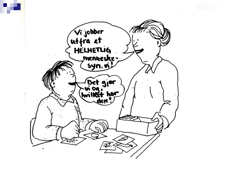 Barn og ungdom – foreldre og hjelpere Jeg har en sykdom men jeg er ikke syk Sosial samhandling og læring – å få være barn/ungdom på de arenaer barn/ungdom naturlig ferdes Integritet og selvfølelse Frihet og grenser Hjelpeavhengig – i hvilken grad.