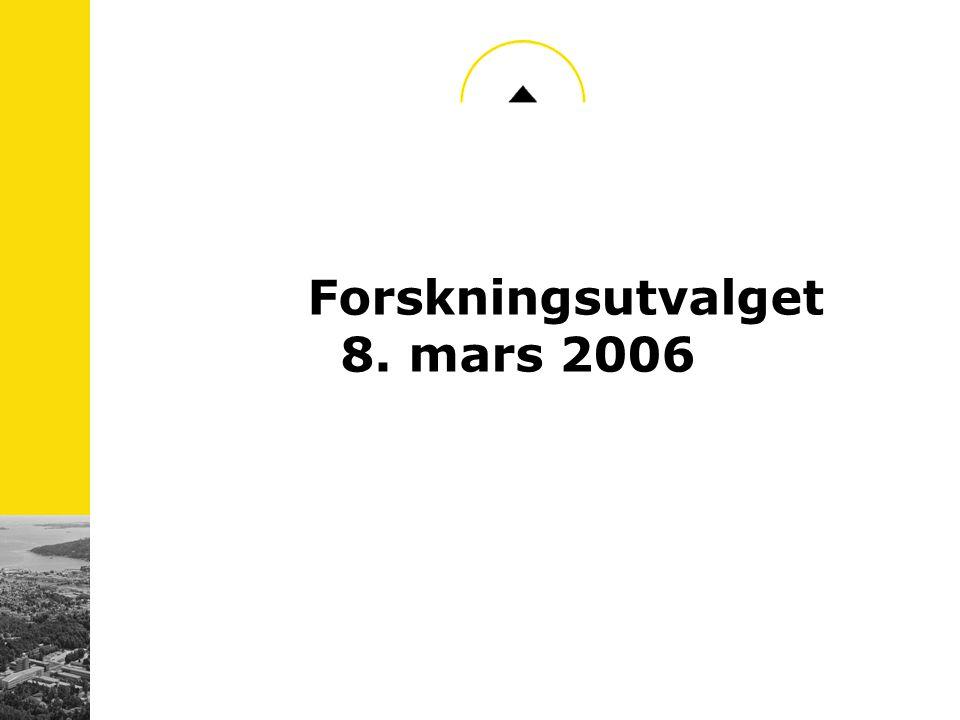 Forskningsutvalget 8. mars 2006