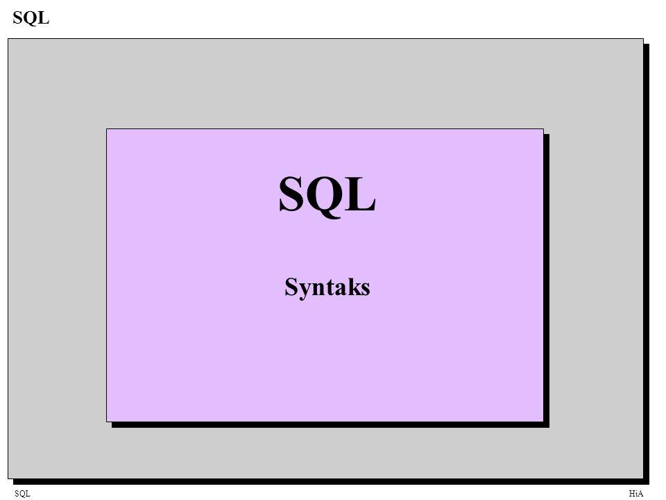 SQLHiA SQL Syntaks
