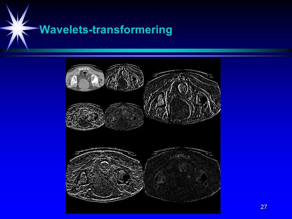 27 Wavelets-transformering