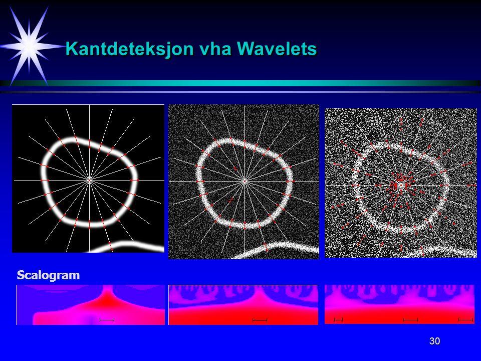30 Kantdeteksjon vha Wavelets Scalogram