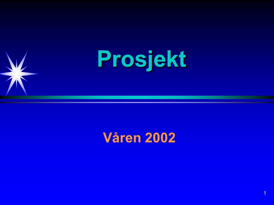 1 ProsjektProsjekt Våren 2002