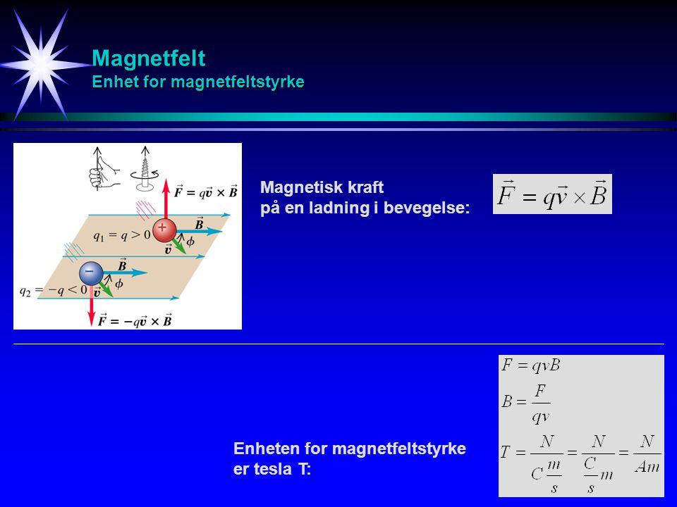 Magnetfelt Spinnende partikkelbane Når en ladd partikkel beveger seg i et magnetfelt, vil partikkelens hastighetskomponent parallelt med magnetfeltet forbli uendret, mens partikkelens hastighetskomponent normalt på magnetfeltet vil forårsake en sirkelbevegelse i et plan normalt på magnetfeltet.