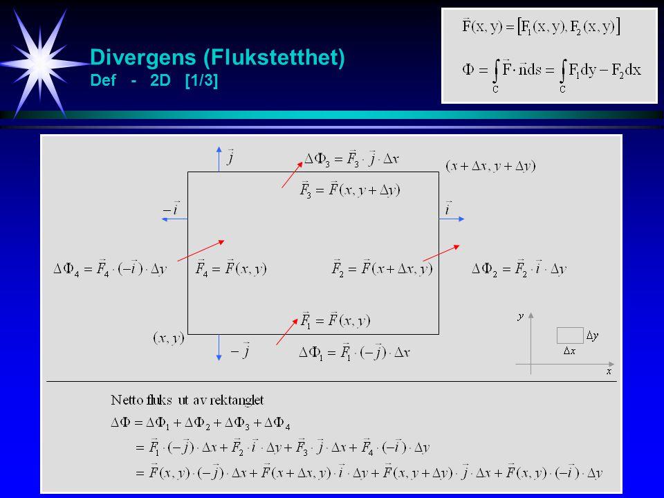 Divergens (Flukstetthet) Def - 2D [1/3]