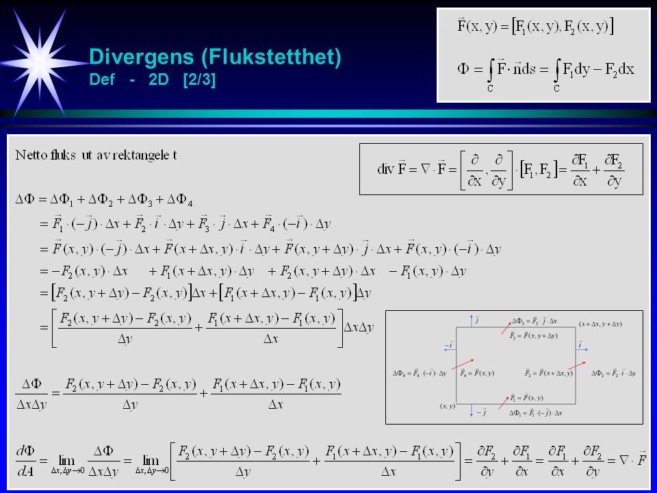 Divergens (Flukstetthet) Def - 2D [2/3]