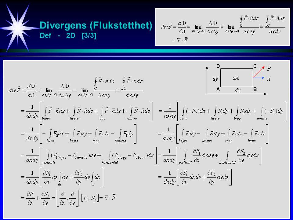 Divergens (Flukstetthet) Def - 2D [3/3] AB CD