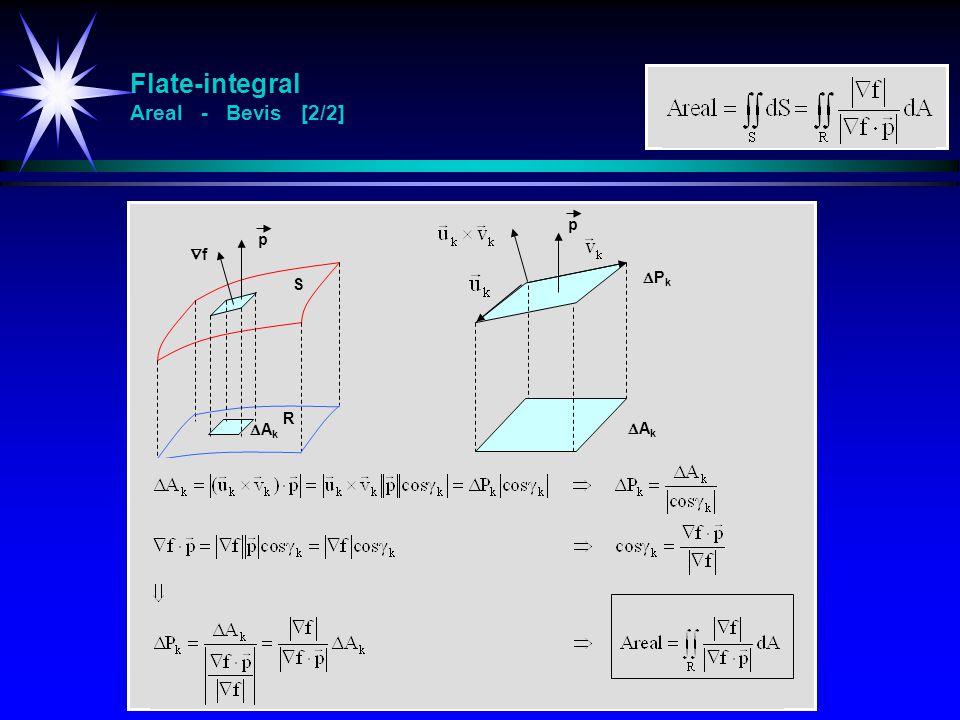 Flate-integral Areal - Bevis [2/2] S AkAk p ff PkPk AkAk p R