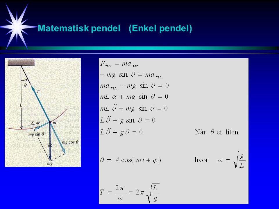 Matematisk pendel (Enkel pendel)