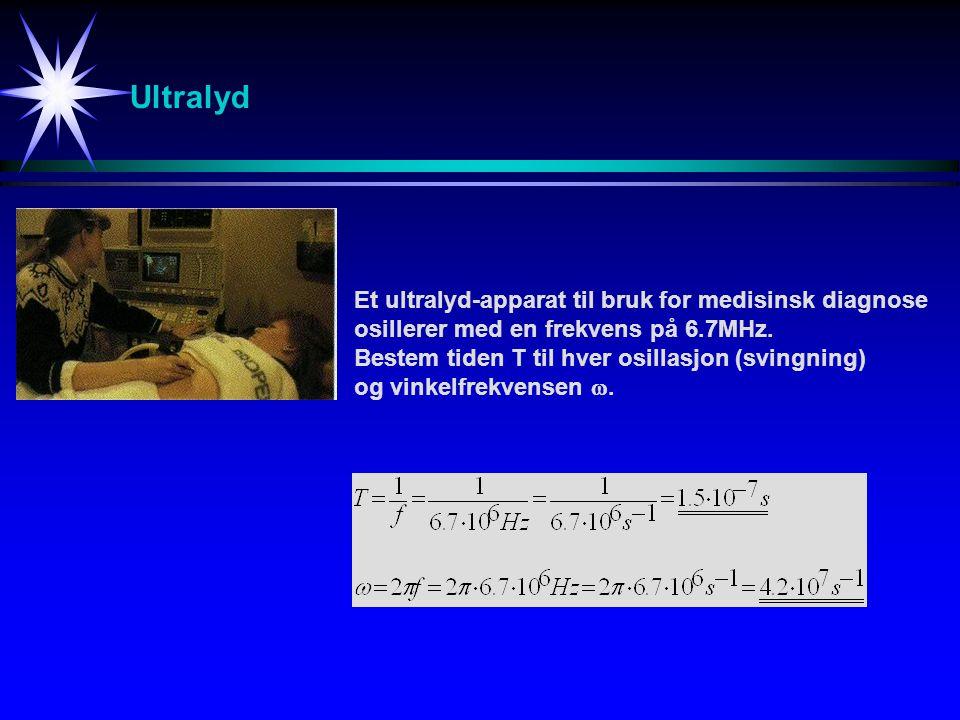 Eksempel 13-4 [1] k = 200 N/mFinn amplitude, fase-vinkel og total energi til bevegelsen.