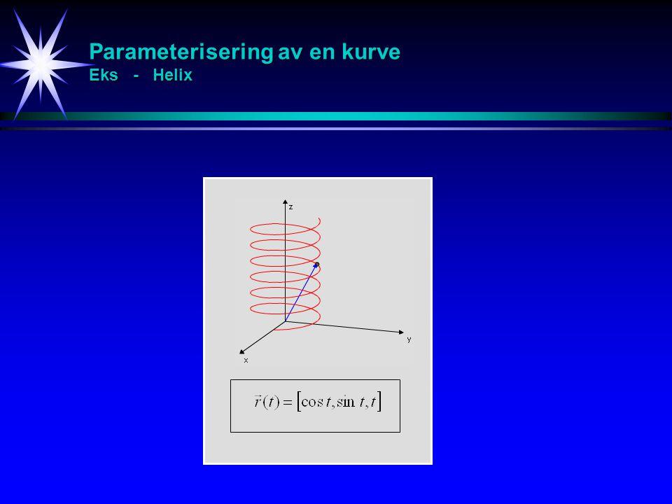 Parameterisering av en kurve Eks - Helix