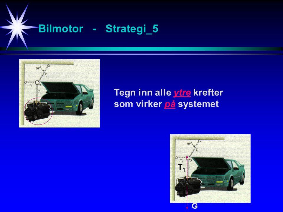 Bilmotor - Strategi_5 Tegn inn alle ytre krefter som virker på systemet G T1T1