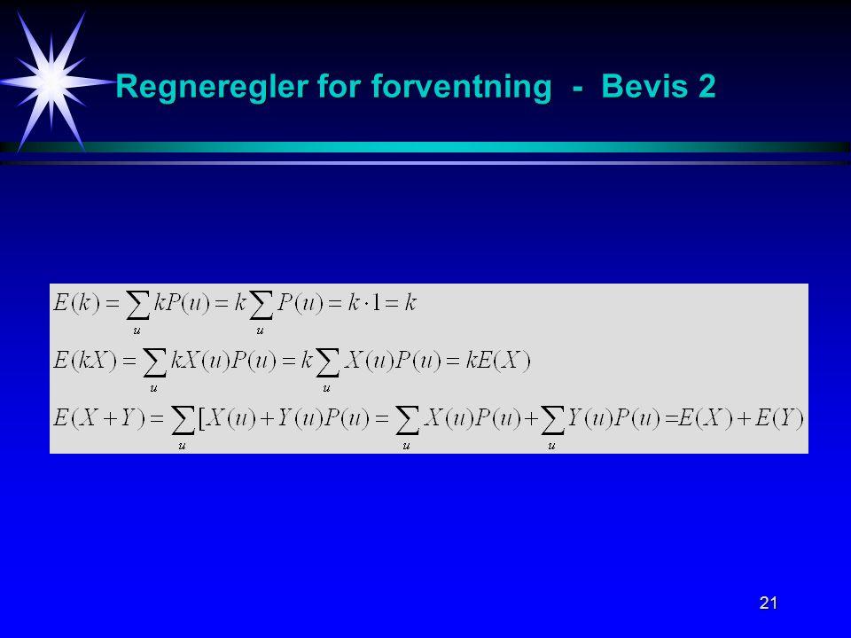 21 Regneregler for forventning - Bevis 2