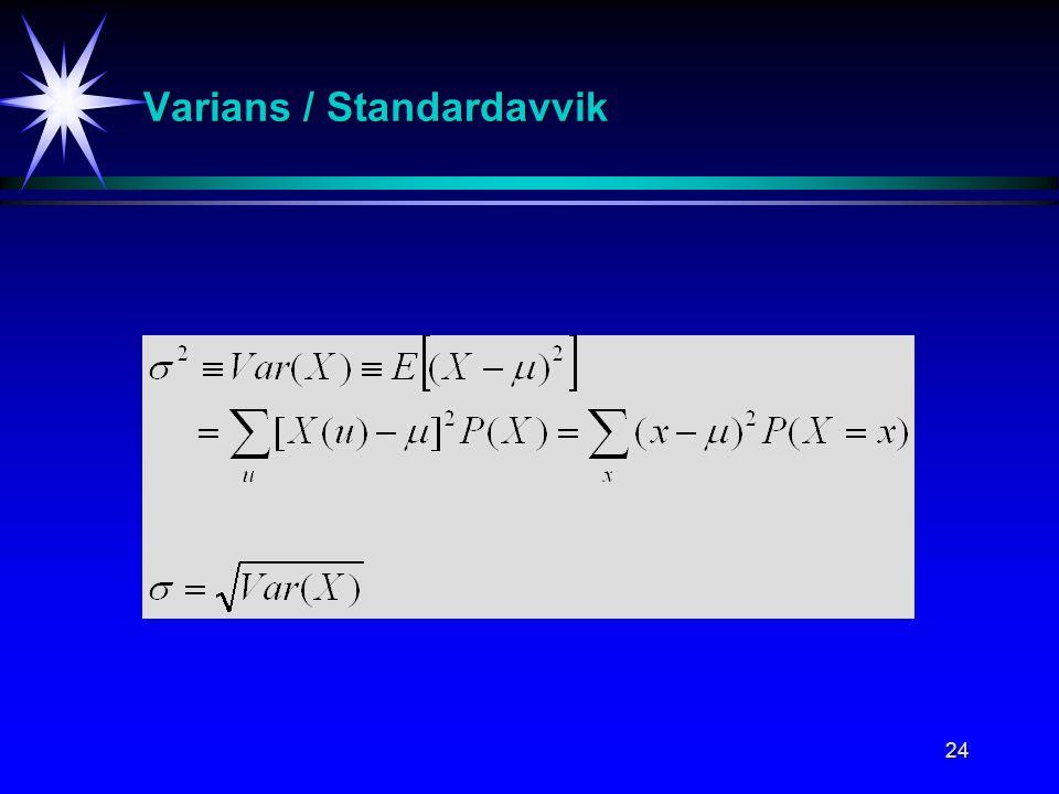 24 Varians / Standardavvik