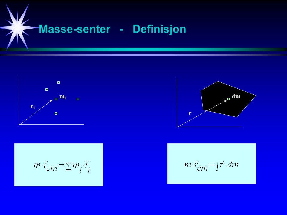 Masse-senter - Eks 1 m 1 = 2 kgm 2 = 2kg 1 2 3 4 5
