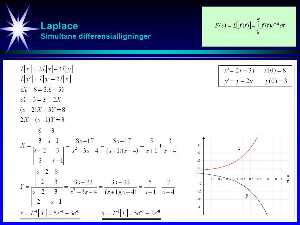 Laplace Simultane differensialligninger