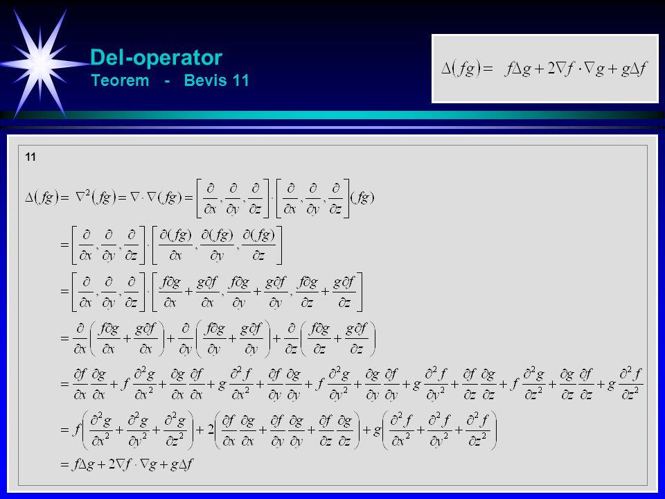Del-operator Teorem - Bevis 11 11