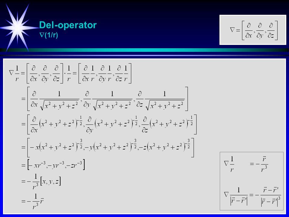 Del-operator  (1/r)