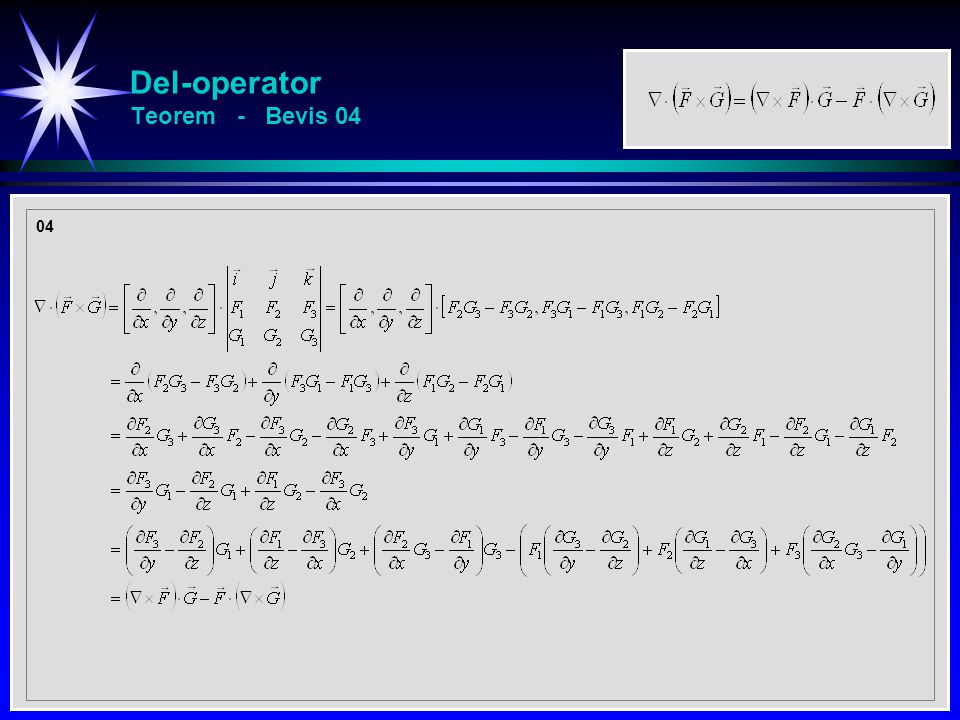Del-operator Teorem - Bevis 04 04