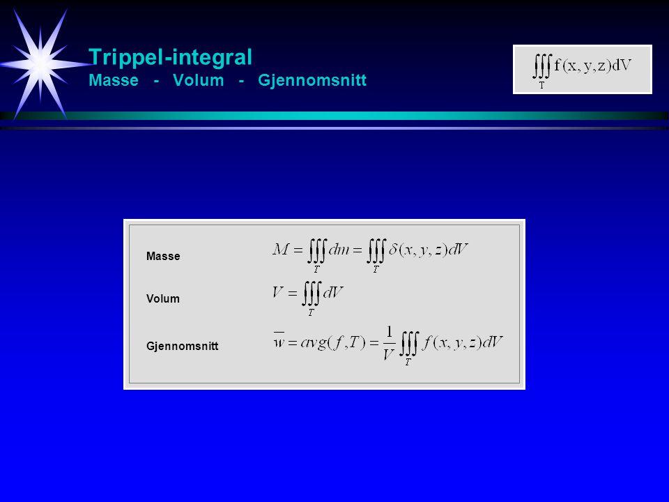 Trippel-integral Masse - Volum - Gjennomsnitt Masse Volum Gjennomsnitt