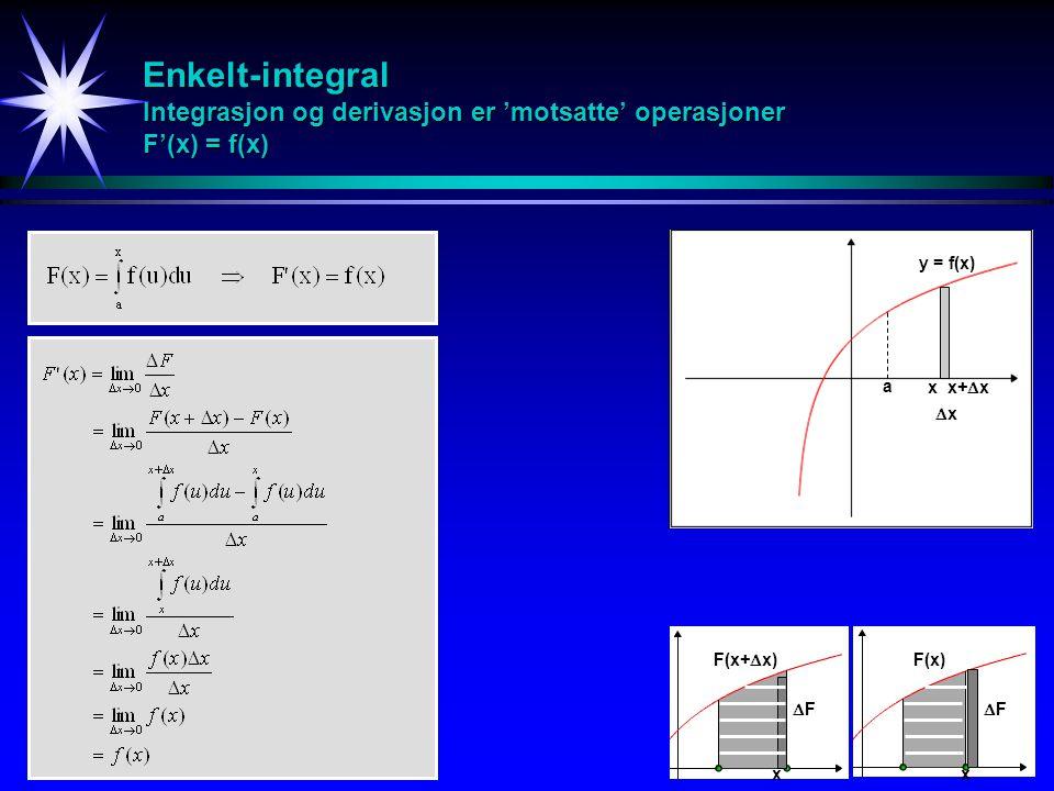 Substitusjon i multiple integraler Trippel-integral - Jacobi-determinant v wG u y zD x
