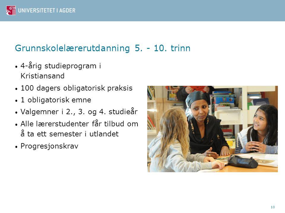 10 Grunnskolelærerutdanning 5. - 10.