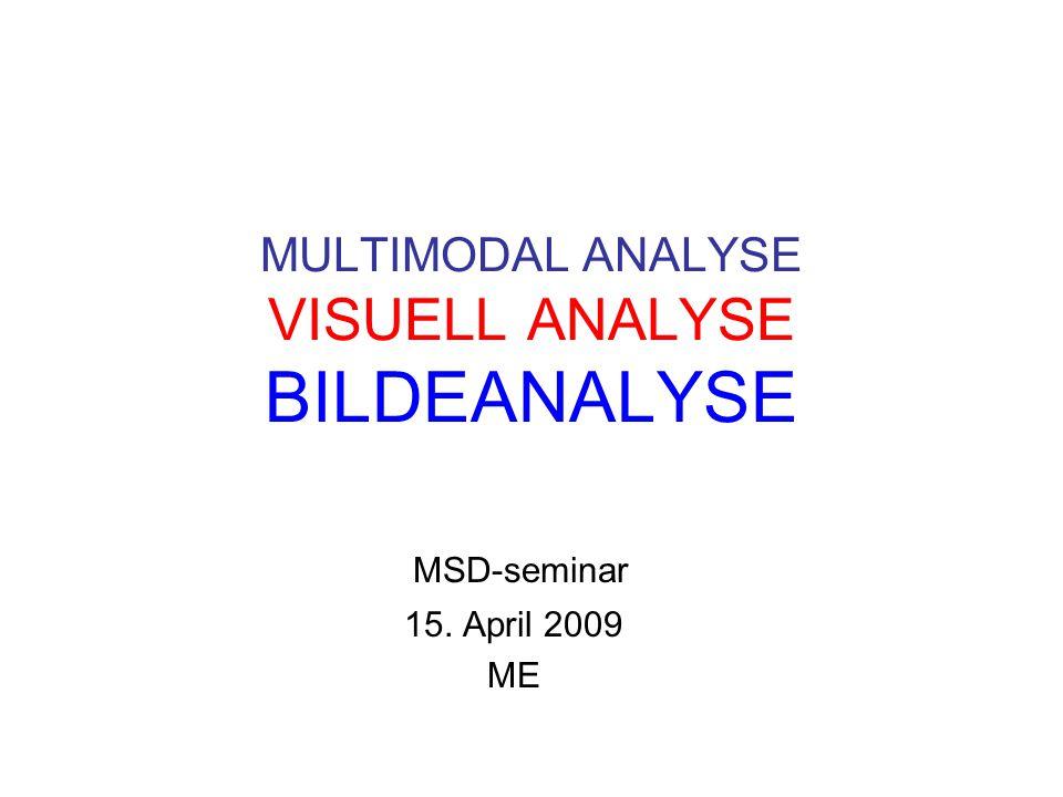 Position statement Den multimodale analysen må baseres på innsikt i hver enkelt modalitets meningspotensial og sjangerhistorikk – samt i forståelse for det multimodale samspillet.