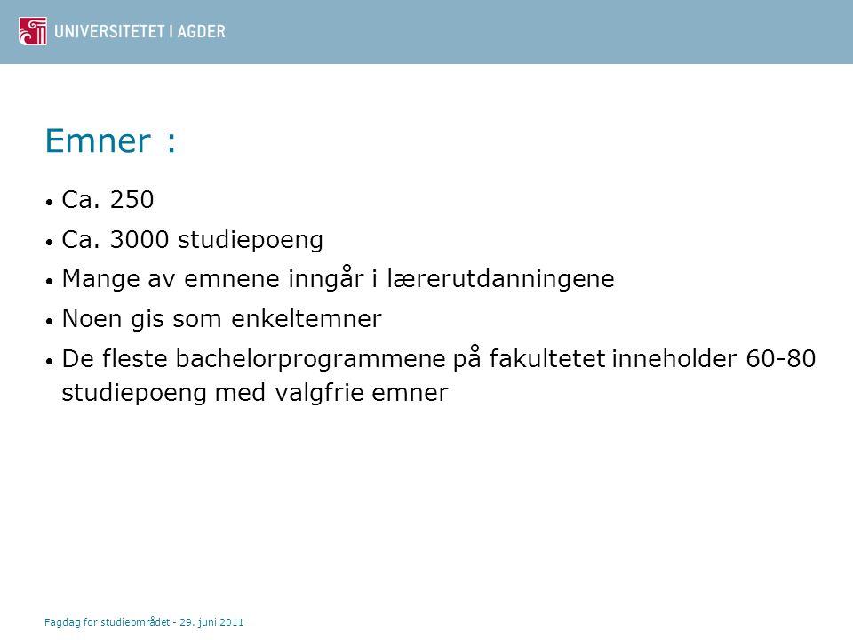 Bachelor - struktur 1.år: Årsstudium (60 sp) 2. år: Påbygging/nivå 2 (30 sp) Ex.phil.