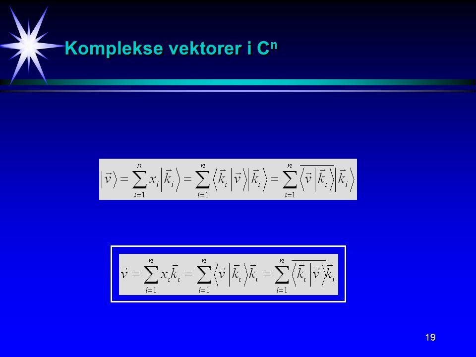 19 Komplekse vektorer i C n