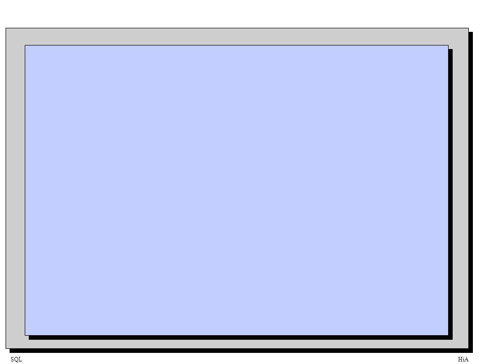 SQLHiA Generering av dynamisk SQL-statement PAM_SELECT PAM_UPDATE...