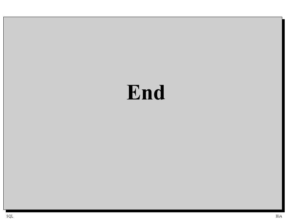 SQLHiA End