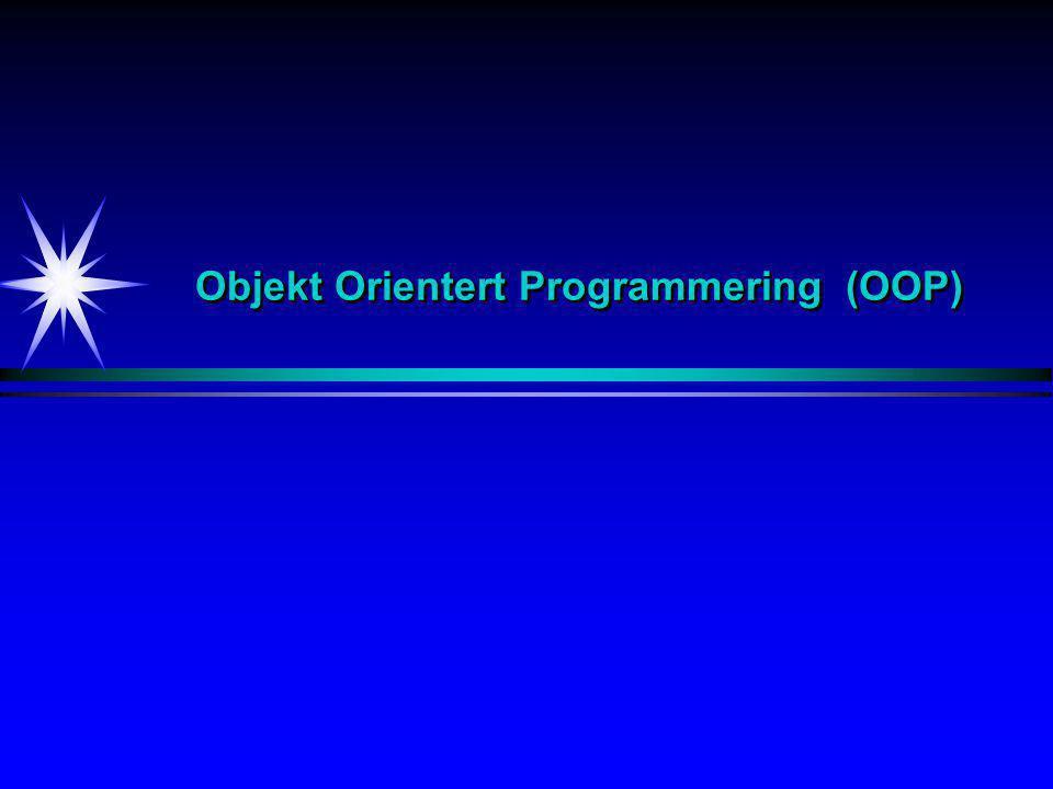 Objekt Orientert Programmering (OOP)