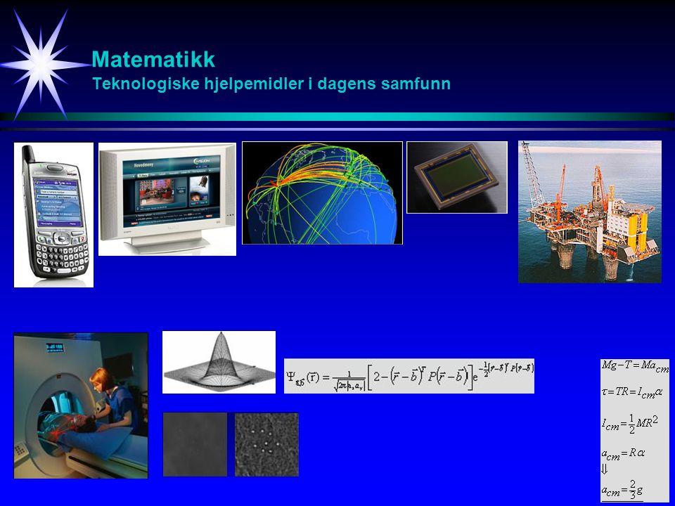 Matematikk Teknologiske hjelpemidler i dagens samfunn