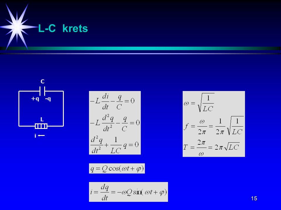 15 i L C L-C krets +q-q