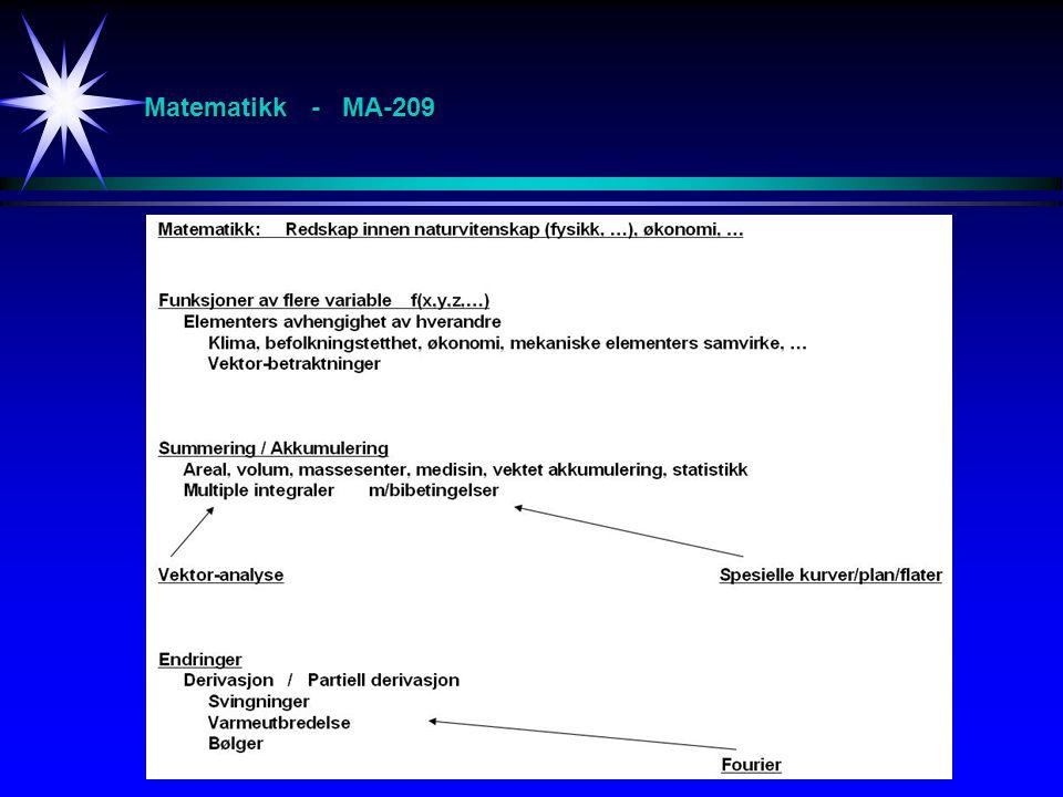 Matematikk - MA-209