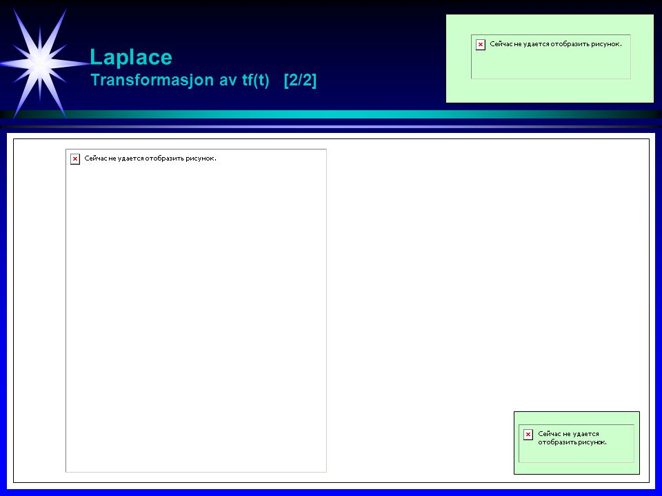 Laplace Transformasjon av t