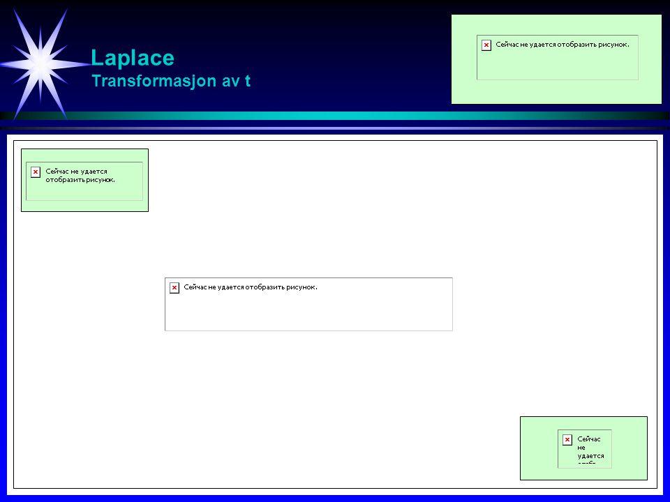 Laplace Initial- og slutt-verdi teorem