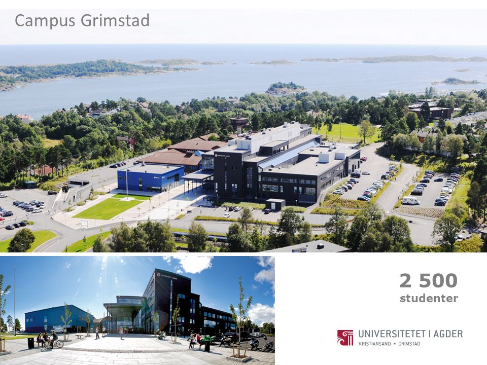 Campus Grimstad 2 500 studenter