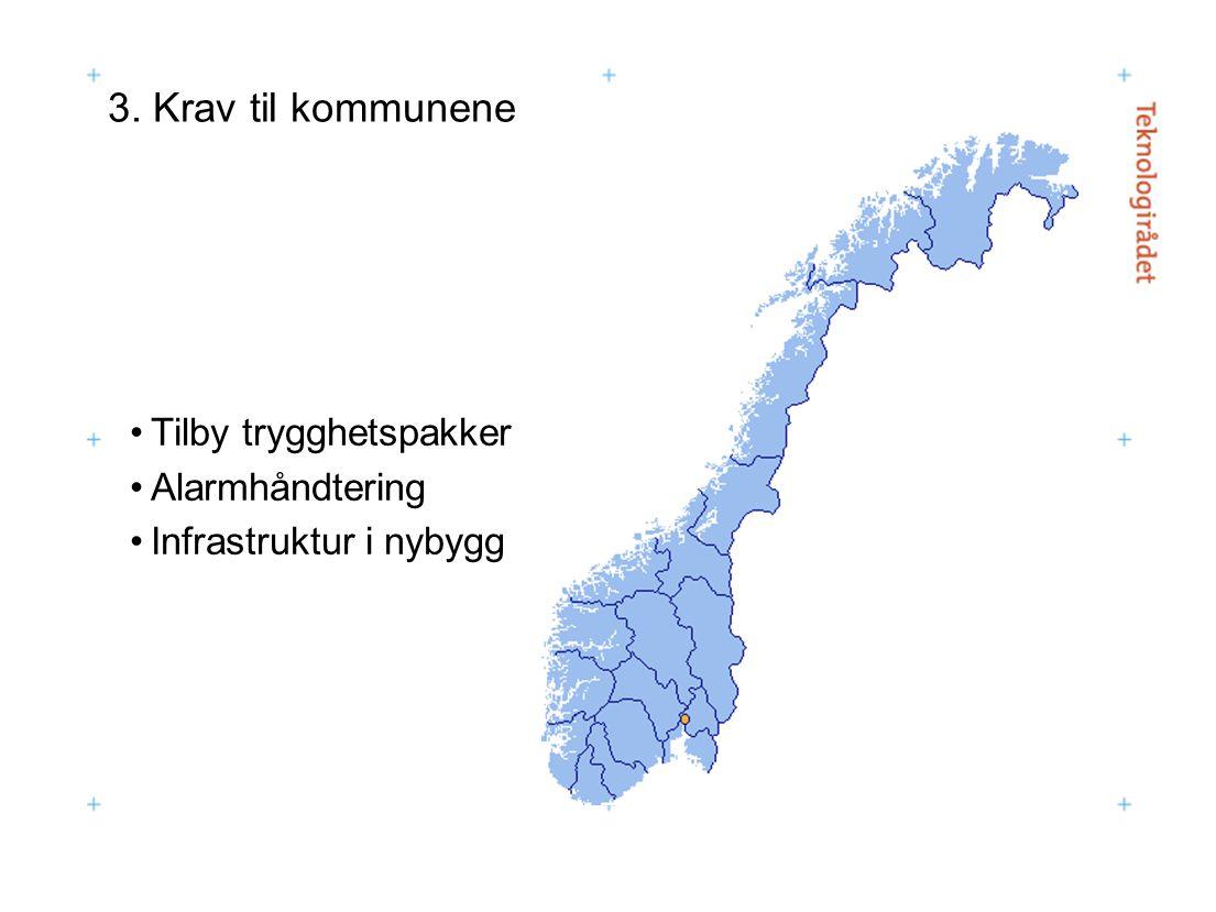 3. Krav til kommunene Tilby trygghetspakker Alarmhåndtering Infrastruktur i nybygg